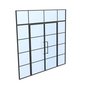 drzwi loftowe steelline 2xW4