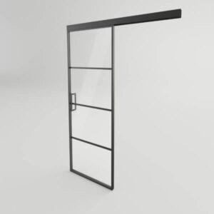 drzwi steelline przesuwne loftowe